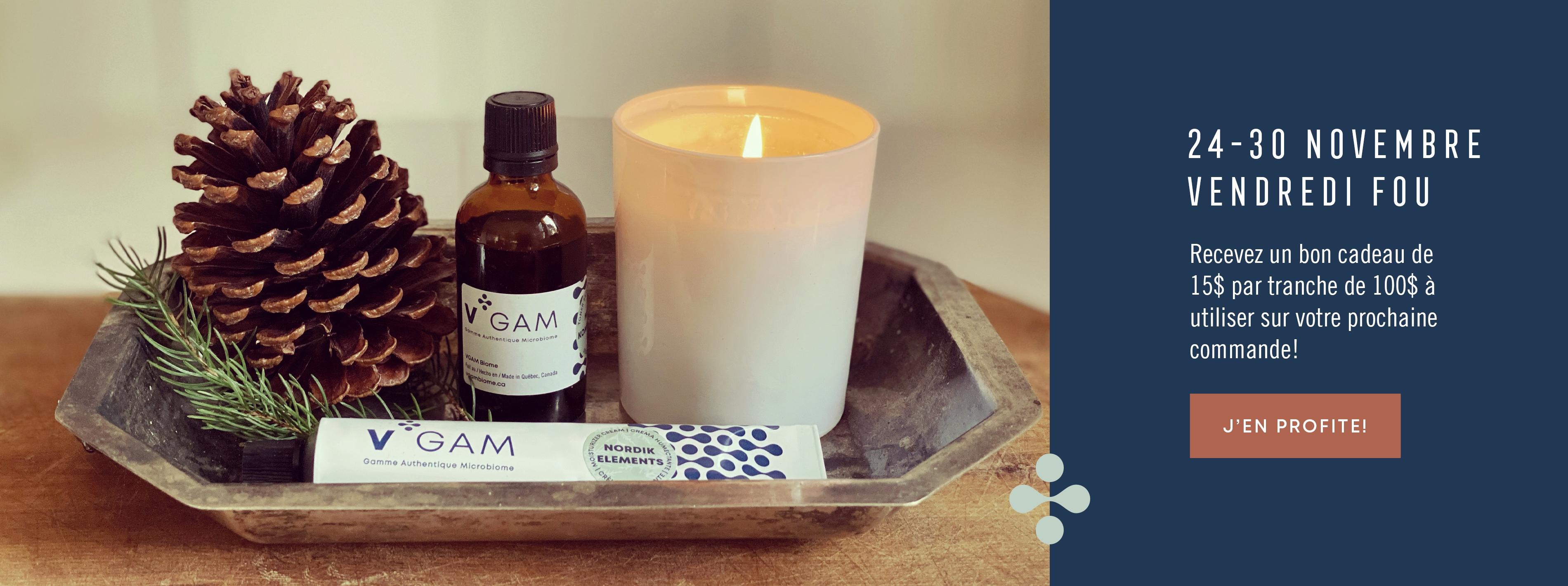 Magasinez nos produits cosmétiques de la gamme Vgam Authentique Microbome